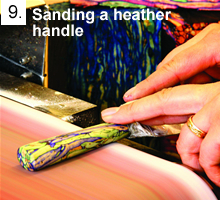 Sanding a Heather Handle
