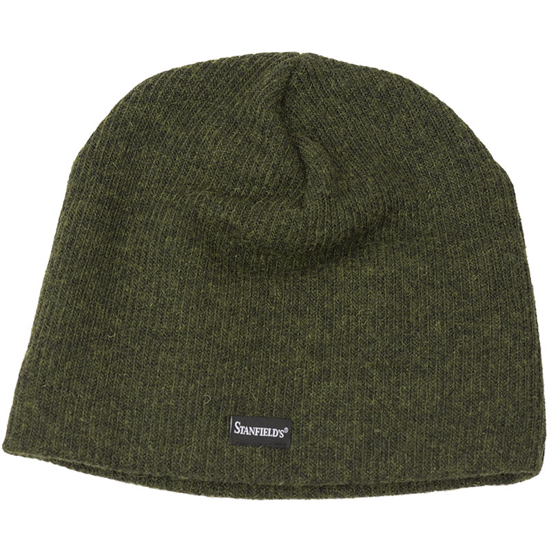 Wool Toque, Green. Made in Canada by Stanfield's