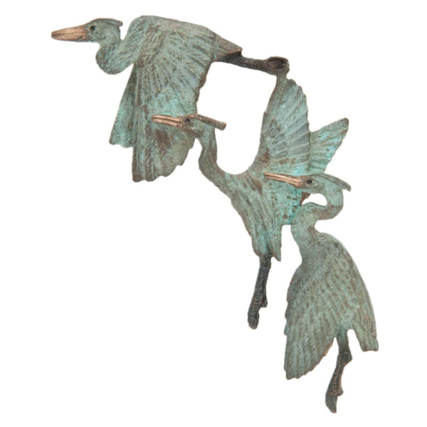 Three Herons Pin, Bronze