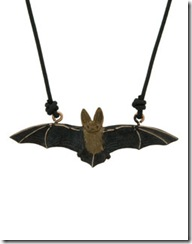 Long Eared Bat Pendant with cord
