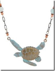 Sea Turtle Two Beaded Necklace
