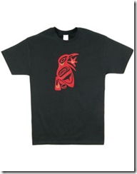 Raven and Sun Embroidered T-Shirt