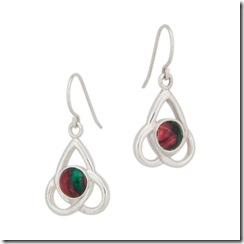 Heathergems Triskele Earrings, Fishhook, Sterling Silver