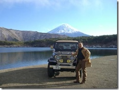 In front of Mt Fuji