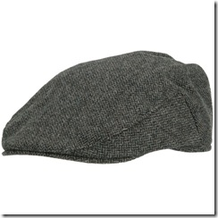 Tilley Tec-Wool Ivy Cap, Brown/Black Herringbone