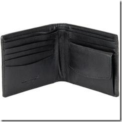 Kangaroo 6 Pocket Wallet with Coin Pocket, black