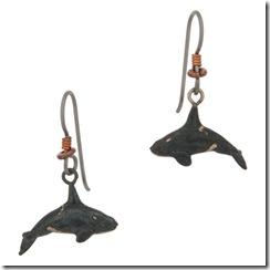 Orca Earrings, Fishhook