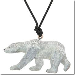 Polar Bear Pendant with Cord