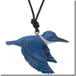 Kingfisher Pendant with Cord