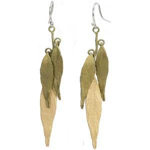 Weeping Willow Earrings, Bronze