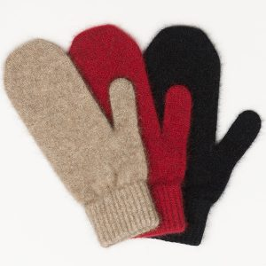 Possum/Merino Wool Knitted Mittens. Made in New Zealand by Lothlorian